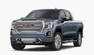 blue GMC pick up truck