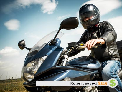 Robert Saved $215 on Motorcycle Insurance