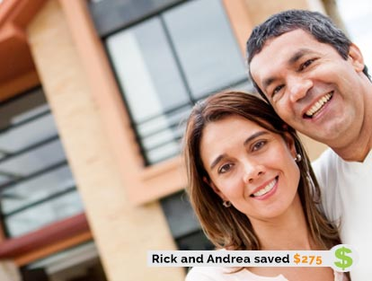 Rick and Andrea Saved $275 on Home and Property Insurance with ThinkInsure