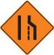lane closed construction sign