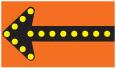 flashing directional signage construction