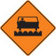pavement construction sign