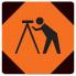survey crew ahead sign