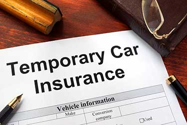 Form for short-term auto insurance