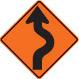temporary detour sign