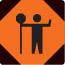 traffic control person ahead