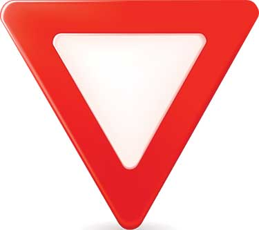 yield sign roundabout ahead